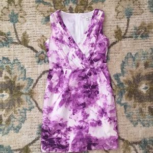 Banana Republic purple/white watercolor dress 4